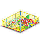 Аттракцион Playground con area Soft Play
